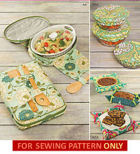 SEWING PATTERN~MAKE CASSAROLE CARRIER~COOKING~FOOD~TOTE~POTLUCK~BOWL COVER~GIFT