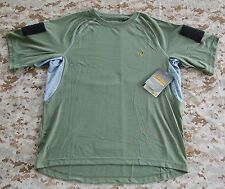 OD Ironclad Dri-T Shirt Custom Velcro Sleeves LG NSWDG DEVGRU SEAL NSW