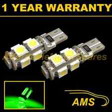 2X W5W T10 501 CANBUS ERROR FREE GREEN 9 LED SIDELIGHT SIDE LIGHT BULBS SL101705