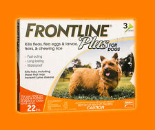 Frontline Plus (3-Pack) ORANGE for Dogs 0-22 lbs **SEALED BRAND NEW**