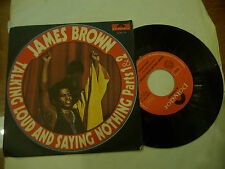 "JAMES BROWN""TALKING LOUD&SAYING NOTHING-disco 45 giri POLYDOR Italy 1972"" FUNKY"