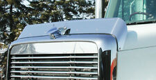 Freightliner Coronado Stainless Bug Deflector with brackets