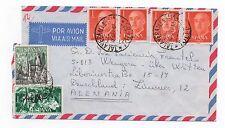 1966 espagne air mail cover talavera de la reina toledo de witten allemagne