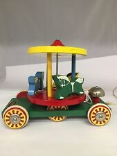COLLECTIBLE BRIO WOODEN MERRY-GO-ROUND PULL TOY, C-114
