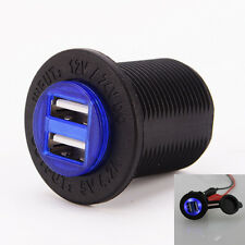 Motorcycle Cigarette Lighter Socket Car Dual USB 12V 4.2A Charger Power Adapter