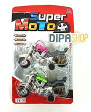 Set 2 Motociclette Giocattolo Super Moto Gioco Bambino Bimbo moc