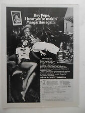 1974 Print Ad Pepe Lopez Tequila ~ Sexy Girl Making Margaritas Again