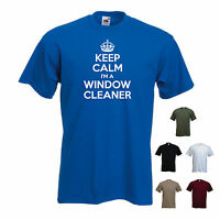 'Keep Calm I'm a Window Cleaner' Window Cleaning Funny T-shirt Tee