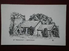 POSTCARD LINCOLNSHIRE SOMERSBY - ST MARGREAT'S CHURCH