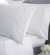 STOCK CLEARING SALE KING SIZE PILLOWCASES PAIR WHITE SOLID 100% EGYPTIAN COTTON