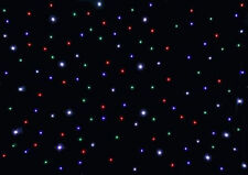 3M x 2M Black Starcloth Curtain RGBW LIGHT LED DJ Disco Star Cloth Wedding DMX
