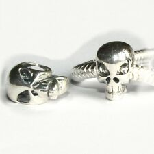 Alien- SKULL- Skeleton- Halloween- Solid 925 sterling silver European charm bead