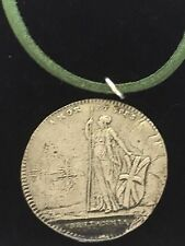 "Charles Edward Stuart Coin WC39 Fine English Pewter On a 18"" Green Cord Necklace"