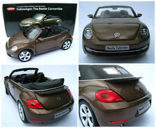 VW Beetle Cabriolet in Toffee brown metallic Kyosho 1:18 NIP