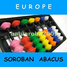 Abacus Soroban 7 Rods Column Bead Tool Japanese Arithmetic