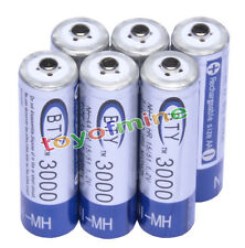 6x AA 3000mAh 1,2 V batterie Ni-MH rechargeable BTY cellule pour MP3 Jouets RC