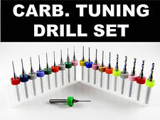20 Piece Carburetor Tuning Drill Bit Set   Holley Rochester Carter Mikuni Walbro