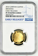 2016 Britannia Gold Proof 1/4 oz Quarter NGC PF70 Early Release POP: 4 RARE