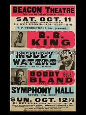 "BB King / Muddy Waters New York 16"" x 12"" Photo Repro Concert Poster"