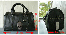 NWT Leather Biker/Skull/Gothic-shoulder bag/hand bag, Womens fashion black bag.