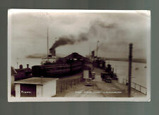 1949 Ireland RPPC postcard Cover The Pier Dun Ladghaire to Belfast