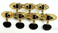 7 string classical gold plated guitar tuner black buttons 406-14B free shipping
