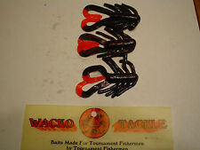 """WACKO TACKLE ALIEN FLIP 3"""" (BLACK RED FLAKE RED TAIL) 8 CT."""