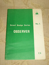 Vintage Collectable Magazine Scout Badge Series Observer No. 7 - 1967