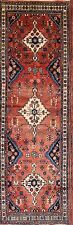 Clearance Sale! Hand Knotted Floral Runner 3x10 Hamadan Persian Oriental Rug