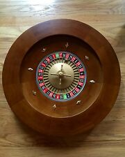 "BRAND NEW 20"" PROFESSIONAL Solid Wood Roulette Wheel 28 lbs- FAST FREE SHIPPING!"