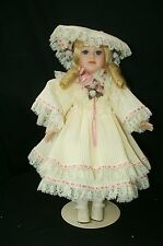 "Seymour Mann Connoisseur Collection  DOROTHY porcelain doll 17"" w stand"