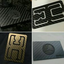 Mercedes AMG Carbon Fiber Magnetic Cardholder Wallet + All-in-one Money Clip