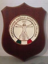 Crest in legno FEDERAZIONE MEDICO SPORTIVA ITALIANA crest of wood