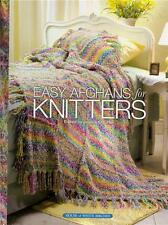 EASY AFGHANS FOR KNITTERS Knitting Patterns Book ~ NEW