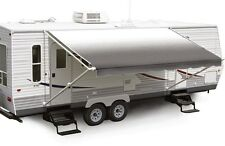 "20' Charcoal Fade w/Wht W/G, RV Patio Awning Repl. fabric canopy (Fabric:19'2"")"