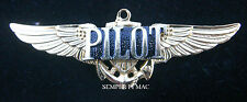 VINTAGE PILOT GLD WING PIN UP PRIVATE SOLO PATCH FAA FBO AIRPORT AIRPLANE WOW