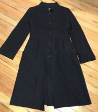 Chinoche Vintage Black Boiled Wool Coat Jacket Coat again Size 8/10