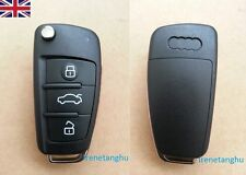 NEW Audi A3 A4 A6 A8 TT Q5 Q7 3 Button Remote Flip Key Fob Case and Uncut Blade