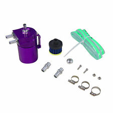 Universal Car Racing Engine Baffled Oil Catch Tank Can Reservoir Breather Purple