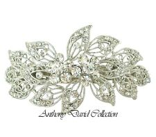 Ladies Silver Metal Crystal Hair Accessory Clip with Swarovski Crystals