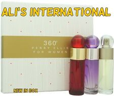 360 by Perry Ellis for Women - 3 Pc Gift Set 360 EDT Spray NEW IN BOX