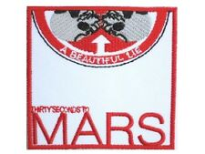 """30 Seconds To Mars Thirty Embroidered Iron On Shirt Bag Badge Patch 2.9""""x2.9"""""""