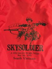Rare King Louie VIETNAM WAR Sky soldier TOUR OF DUTY SOUVENIR JACKET Xs Mint