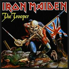 IRON MAIDEN-THE TROOPER Union Jack patch ricamate Heavy Metal NWOBHM NUOVO