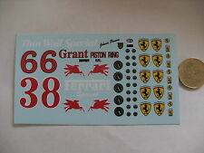 decals decalcomanie divers dessin pour ferrari 1/18