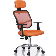 Ergonomic Mesh High Back Executive Computer Desk Office Chair Adjustable Orange