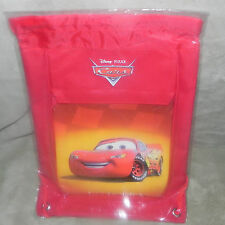 DISNEY PIXAR CARS  DRAWSTRING BAG WITH ZIPPERED FRONT POCKET