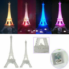 Hot Home Decor Eiffel Tower Desk Xmas Party Table LED Lamp Bedroom Night Light