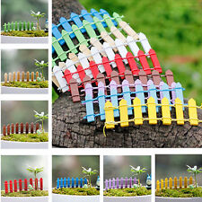 5x Wooden Fence Plant Pot Decor Fairy Scenery Garden Palisade Ornament Accessory