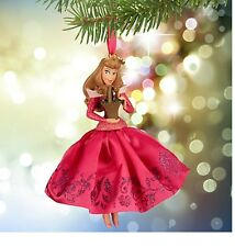 Disney Authentic Sleeping Beauty Princess Aurora Pink Satin Christmas Ornament